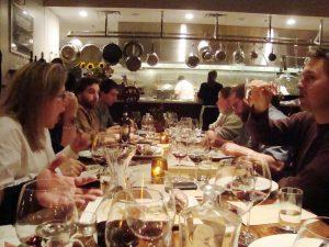 Oenotri Restaurant at table