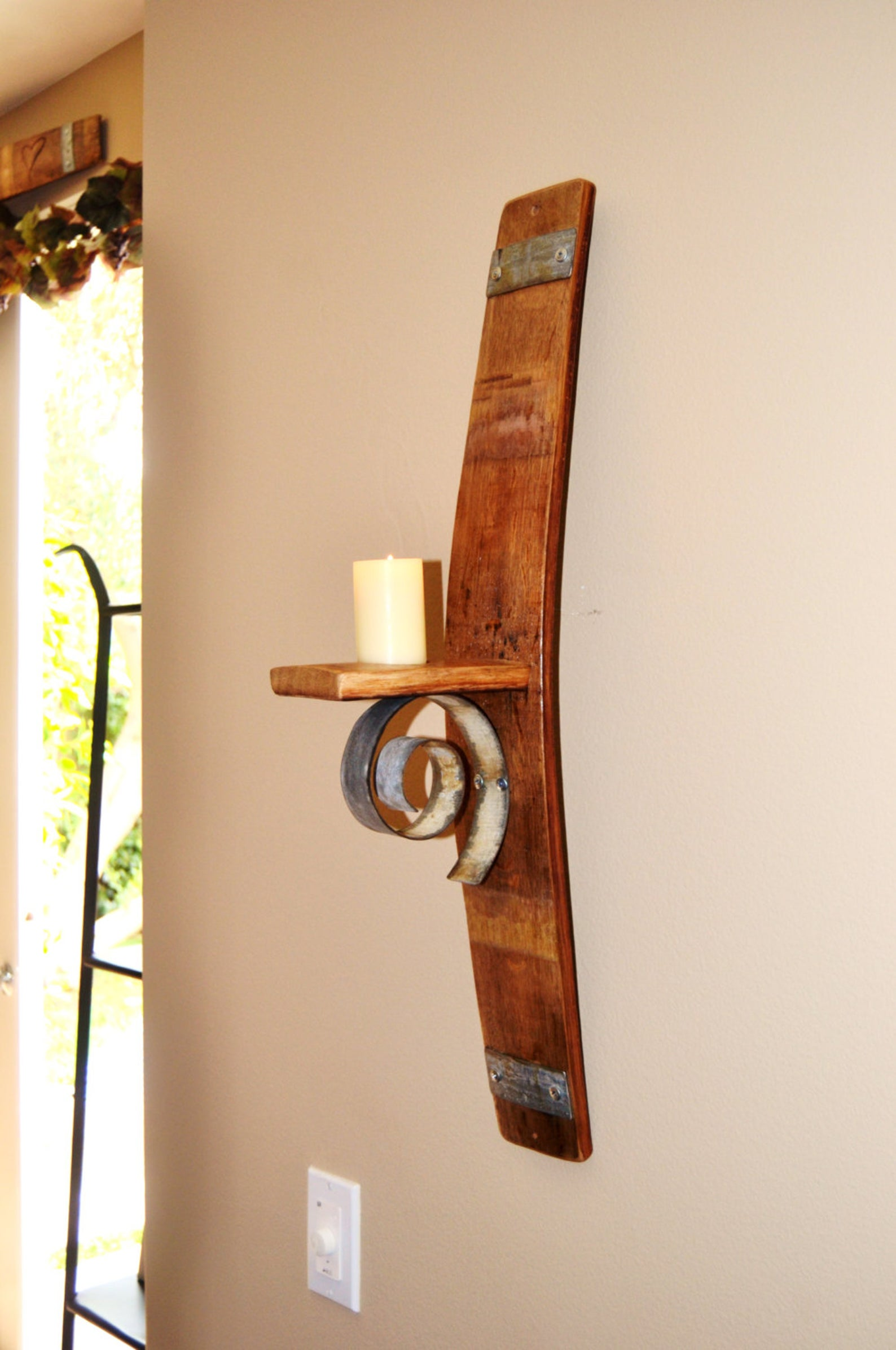 Stave Wall Candle Holder