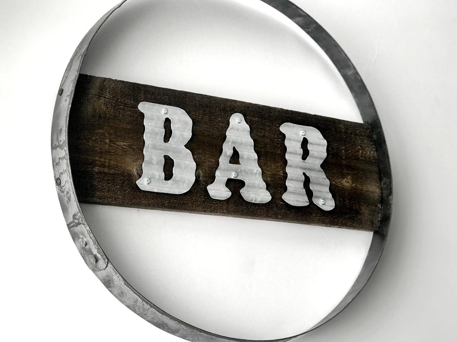 Steel Ring Bar Wall Sign