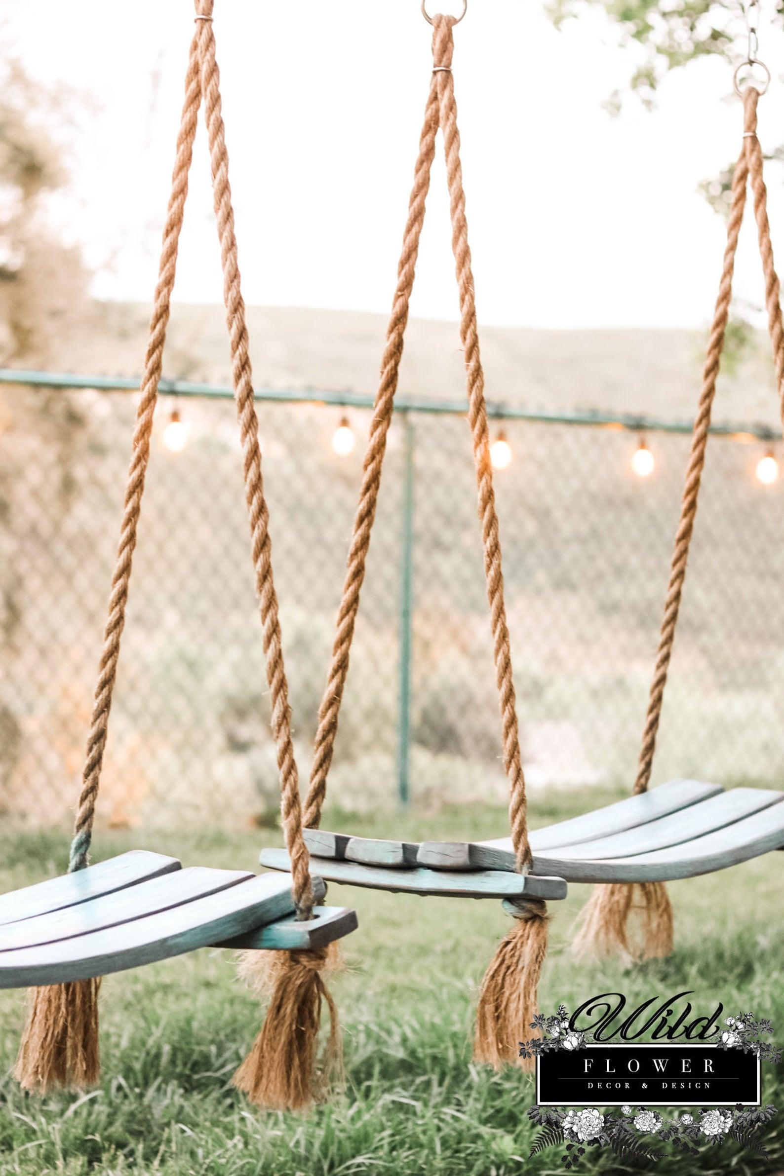 Wildflower Wine Barrel Rope Swing-1