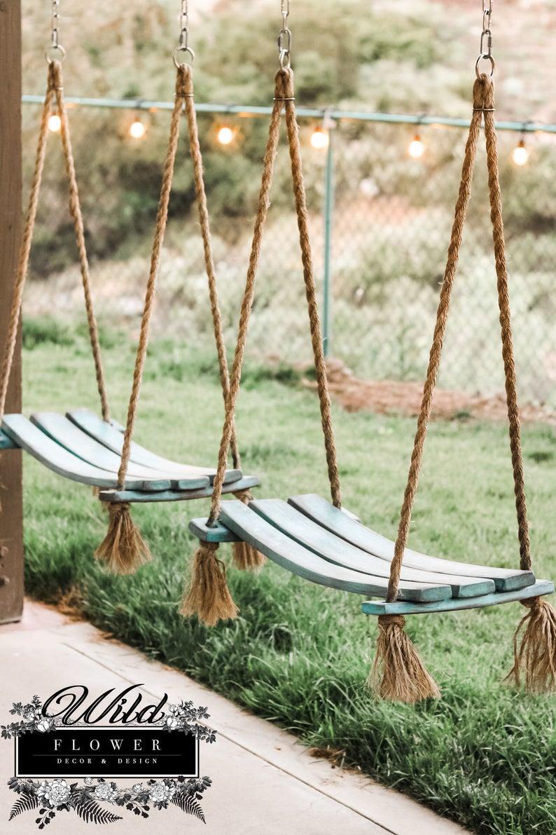 Wildflower Wine Barrel Rope Swing-2