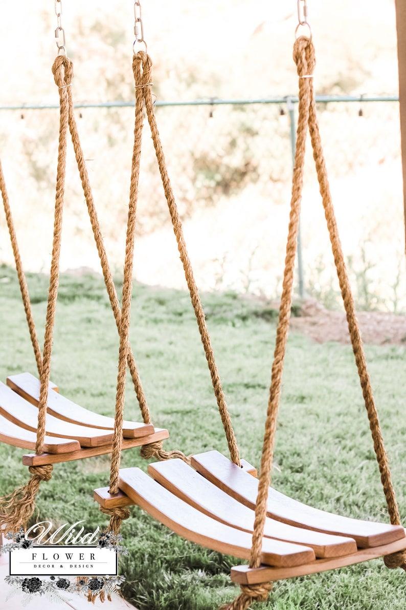 Wildflower Wine Barrel Rope Swing-3