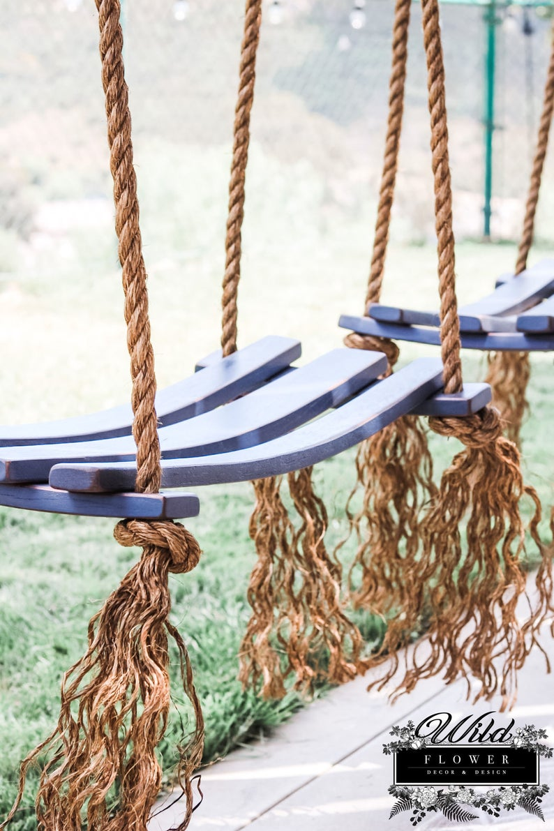 Wildflower Wine Barrel Rope Swing-4