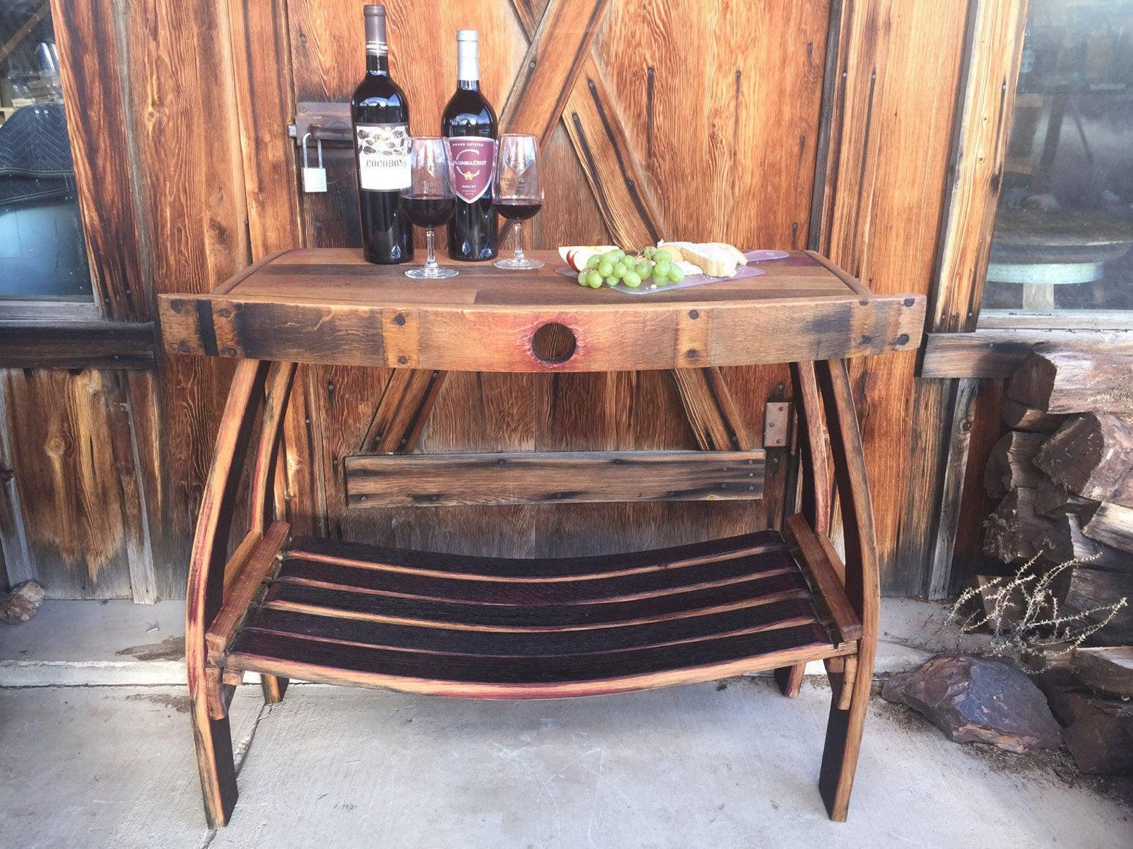 Wine Barrel Table-main